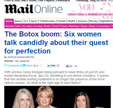 "Mail Online News feature: ""The Botox boom"""